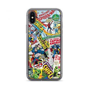 Funny Comics Mix Pattern iPhone X Case, XS, XR, XS Max