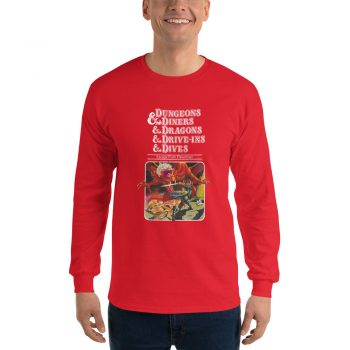 Dungeons Diners Dragons Drive Ins Dives Long Sleeve Men T Shirt