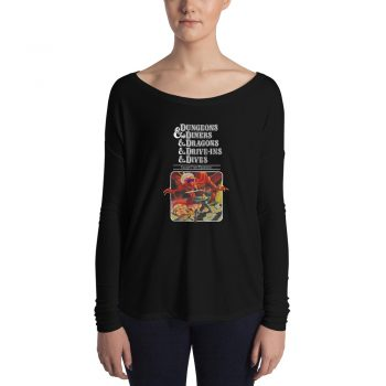 Dungeons Diners Dragons Drive Ins Dives Ladies' Long Sleeve Tee