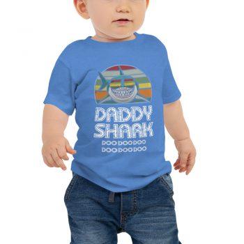 Daddy Shark Vintage Baby Jersey Short Sleeve Tee