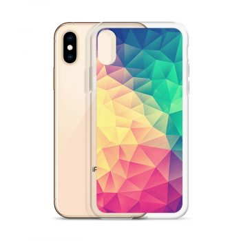 Abstract Polygon Multi Color Cubism Low Poly Triangle iPhone X Case, XS, XR, XS Max