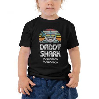 Daddy Shark Vintage Toddler Tee Shirt