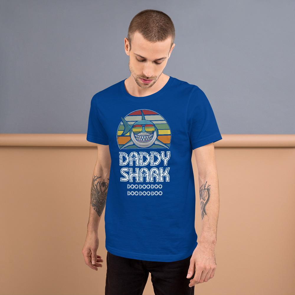 Daddy Shark Vintage Unisex T Shirt