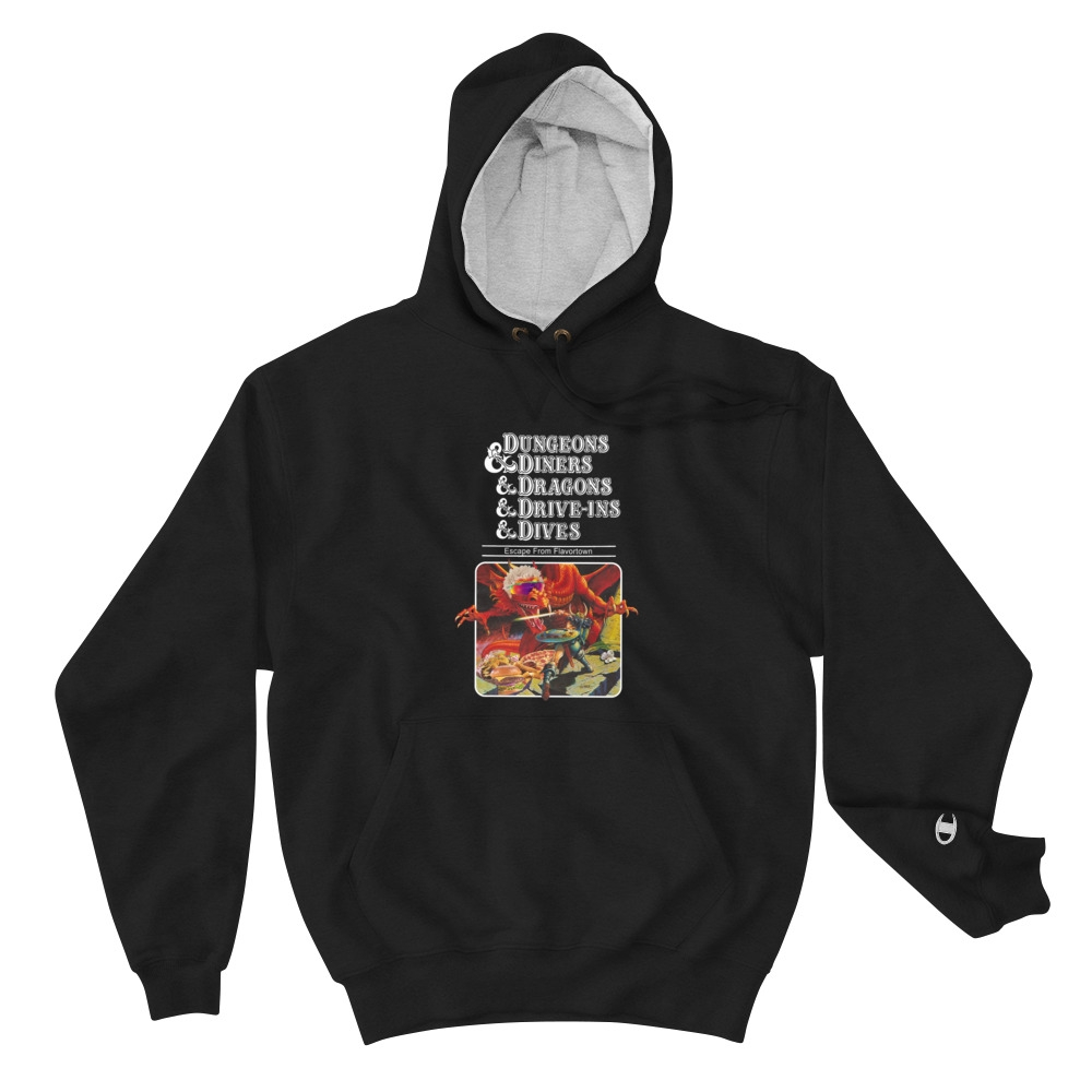 Dungeons Diners Dragons Drive Ins Dives Original Champion Hoodie