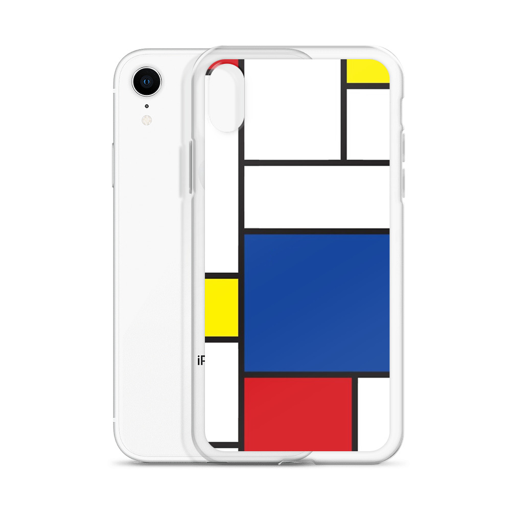 Mondrian Minimalist De Stijl Modern Art II iPhone Clear Case