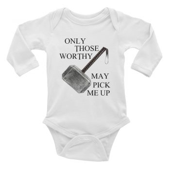 Only Those Worthy Thor Baby Bodysuit Long Sleeve