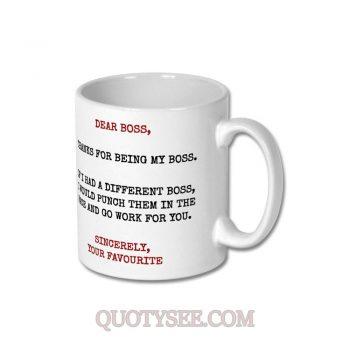 Dear Boss Gift Mug