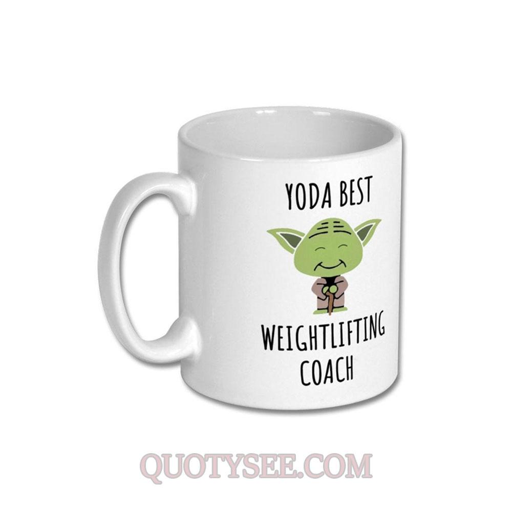 Yoda Best Weightlifting Coach Mug