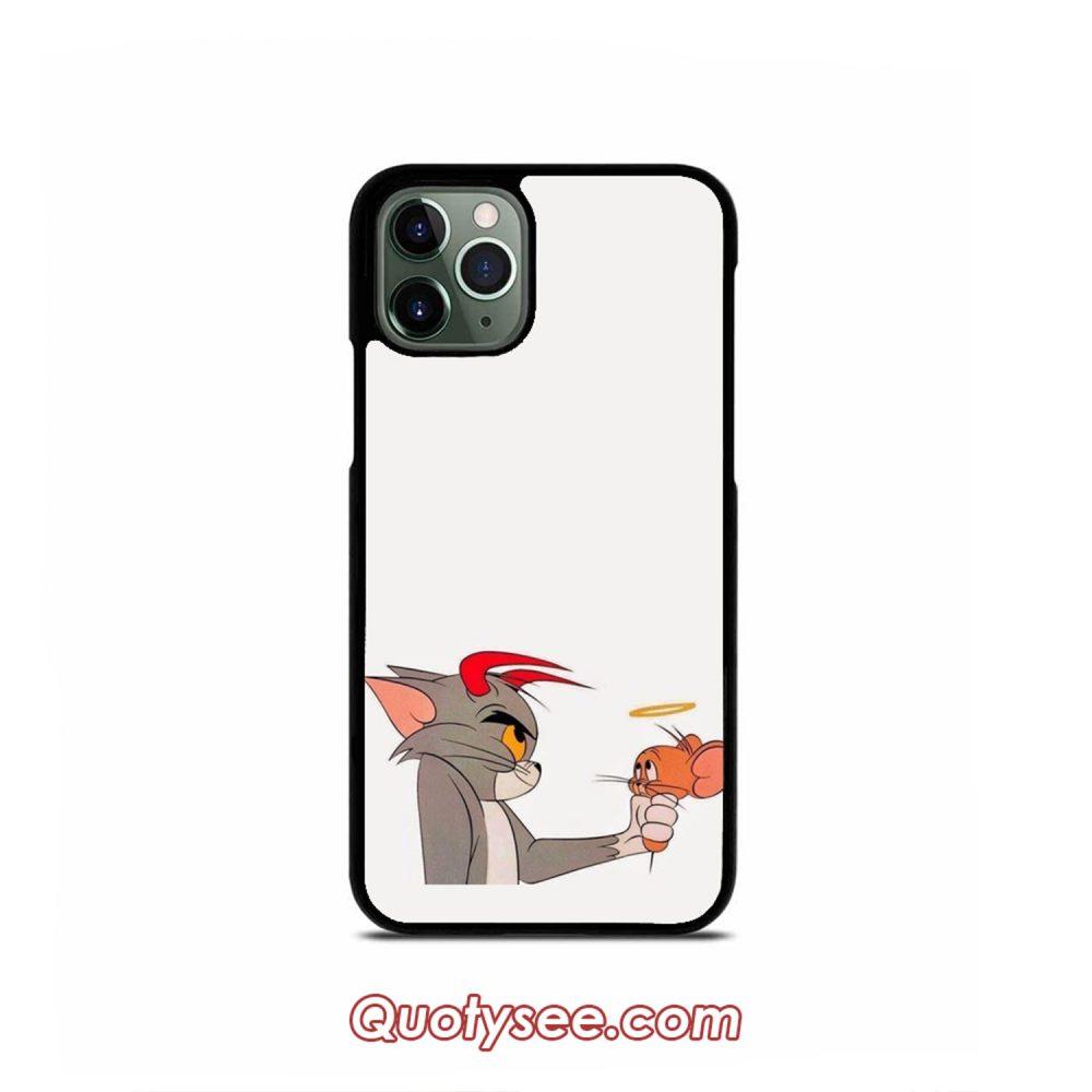 Tom and Jerry Devil vs Angel iPhone Case 11 11 Pro 11 Pro Max XS Max XR X 8 8 Plus 7 7 Plus 6 6S