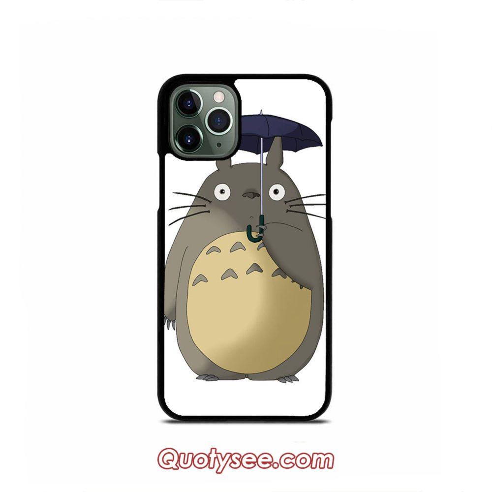 Totoro Umbrella iPhone Case 11 11 Pro 11 Pro Max XS Max XR X 8 8 Plus 7 7 Plus 6 6S