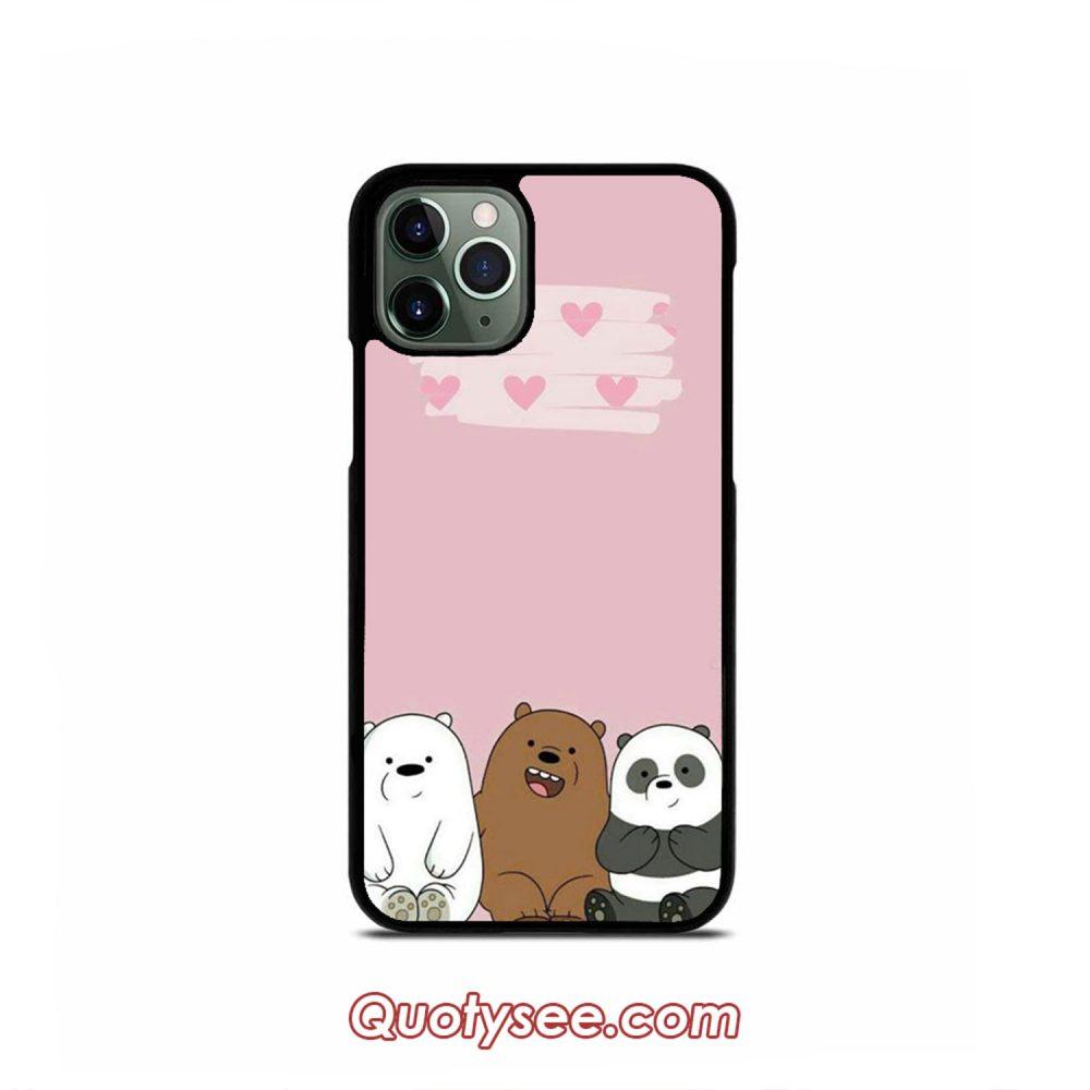 Trio Bare Bears iPhone Case 11 11 Pro 11 Pro Max XS Max XR X 8 8 Plus 7 7 Plus 6 6S