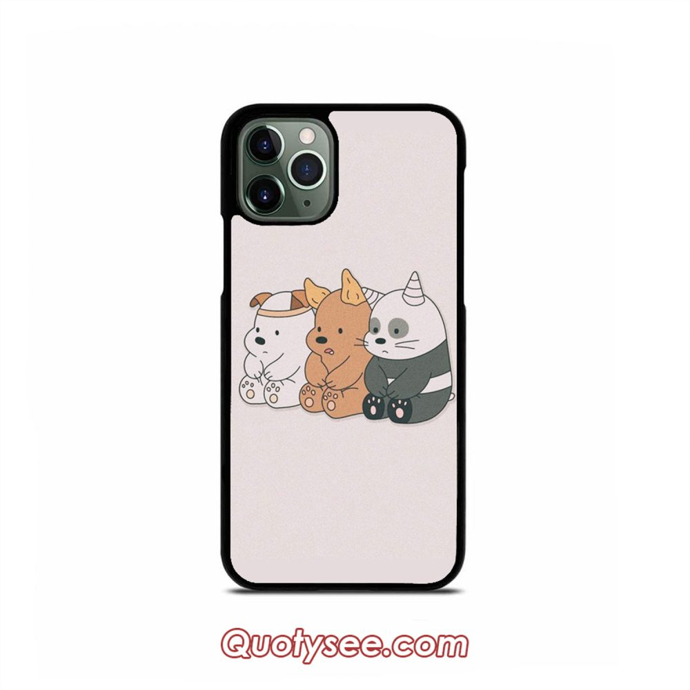 We Are Bare Bears iPhone Case 11 11 Pro 11 Pro Max XS Max XR X 8 8 Plus 7 7 Plus 6 6S