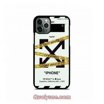 Off White Police Line iPhone 11 11 Pro 11 Pro Max Case