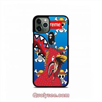 One Piece Supreme x BAPE iPhone 11 11 Pro 11 Pro Max Case