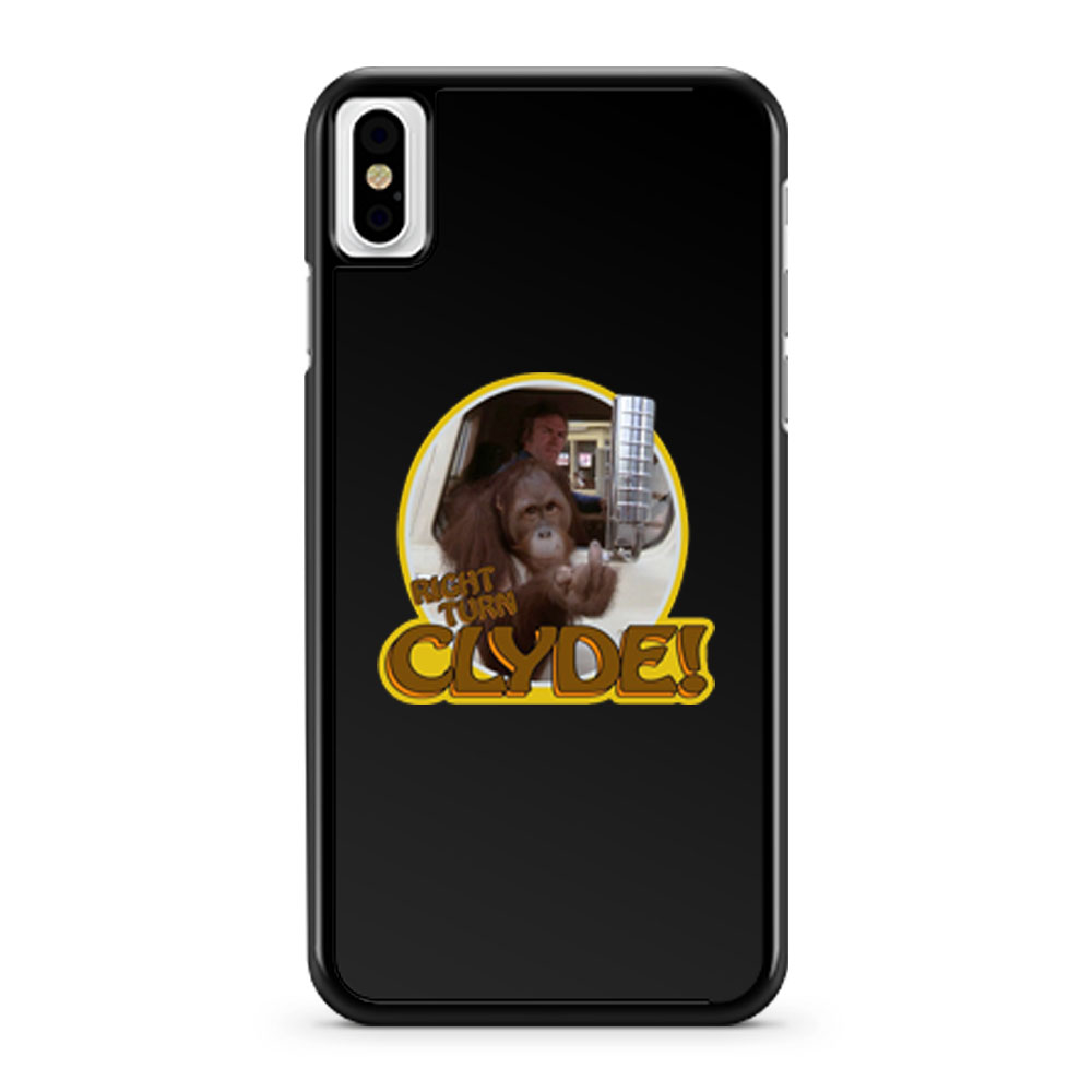 70s Eastwood Classic Every Which Way But Loose Right Turn Clyde iPhone X Case iPhone XS Case iPhone XR Case iPhone XS Max Case