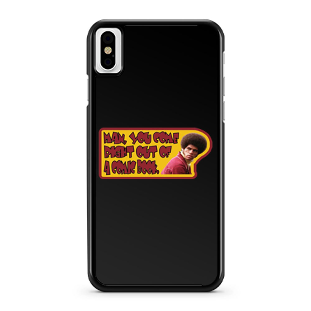 70s Kung Fu Classic Enter The Dragon Jim Kelly Comic Book iPhone X Case iPhone XS Case iPhone XR Case iPhone XS Max Case