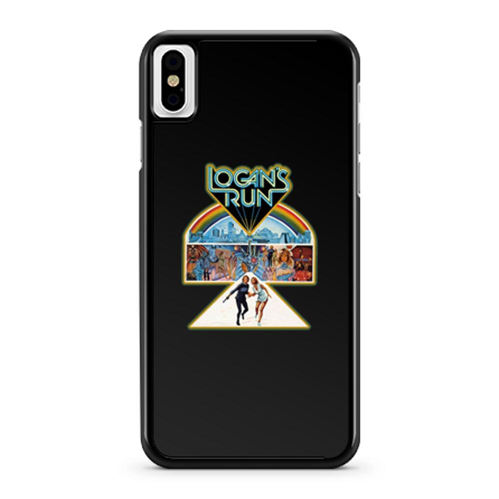 70s Sci Fi Classic Logans Run Poster Art iPhone X Case iPhone XS Case iPhone XR Case iPhone XS Max Case