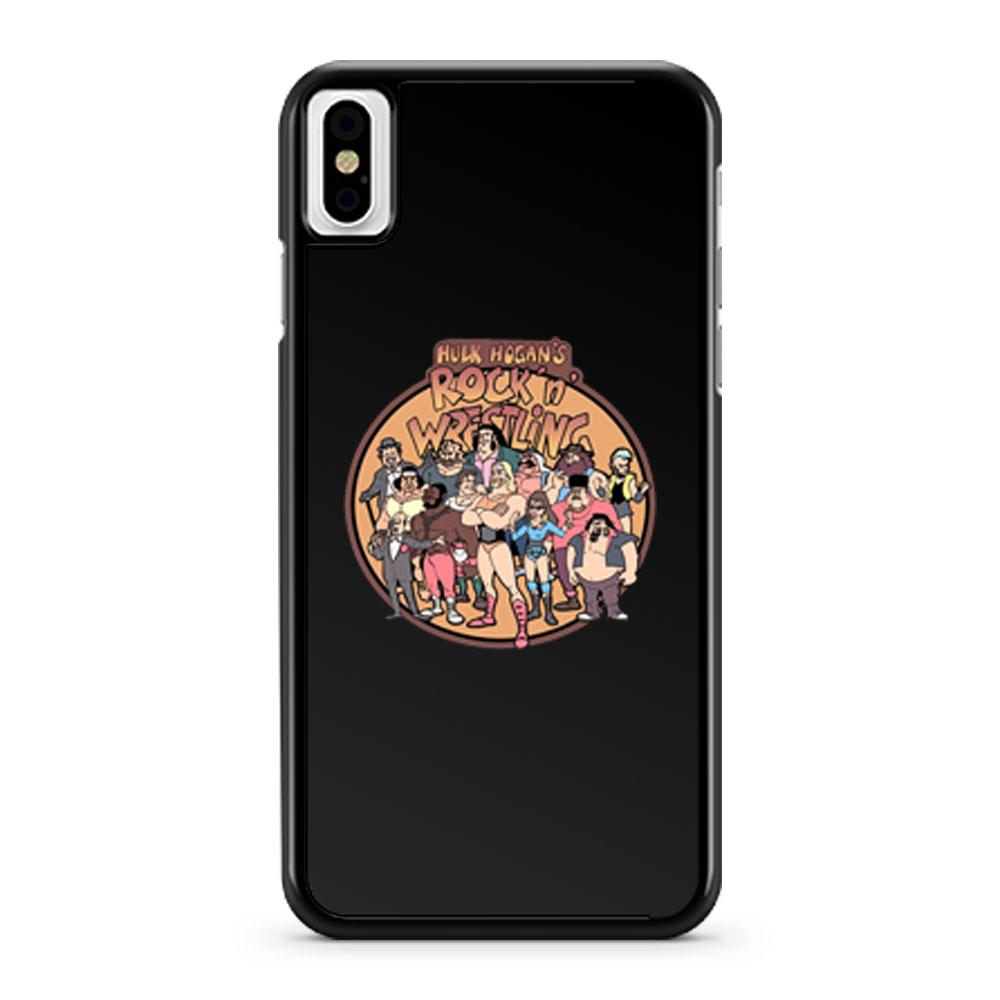 80s Cartoon Classic Hulk Hogans Rock N Wrestling iPhone X Case iPhone XS Case iPhone XR Case iPhone XS Max Case
