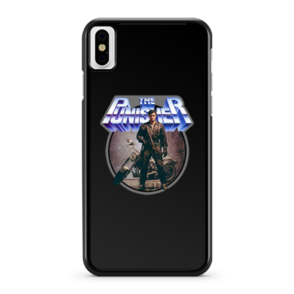 80s Comic Classic The Punisher Poster Art iPhone X Case iPhone XS Case iPhone XR Case iPhone XS Max Case