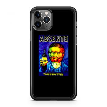 Absente Vintage Absinthe Liquor Advertisement with Van Gogh iPhone 11 Case iPhone 11 Pro Case iPhone 11 Pro Max Case