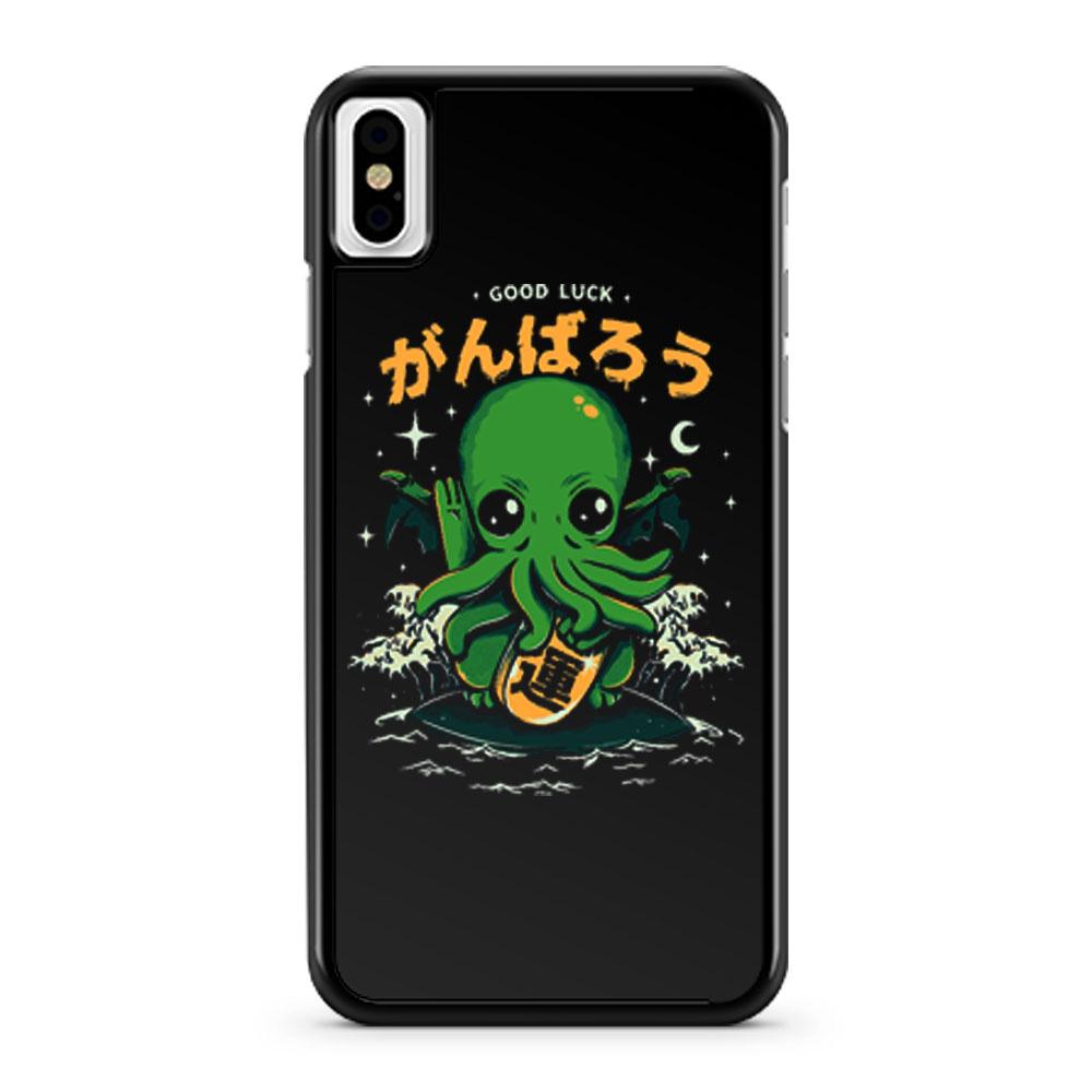 Good Luck Cthulhu Japan iPhone X Case iPhone XS Case iPhone XR Case iPhone XS Max Case