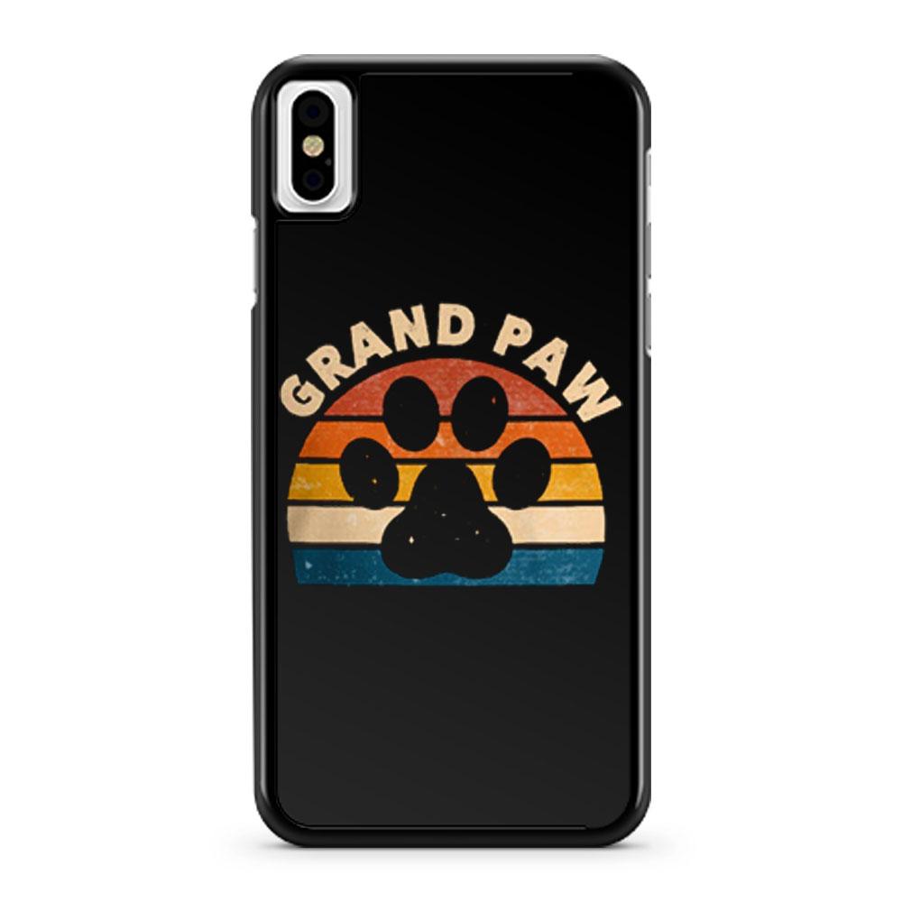 Grandpa Paw Pet Animal Lover iPhone X Case iPhone XS Case iPhone XR Case iPhone XS Max Case