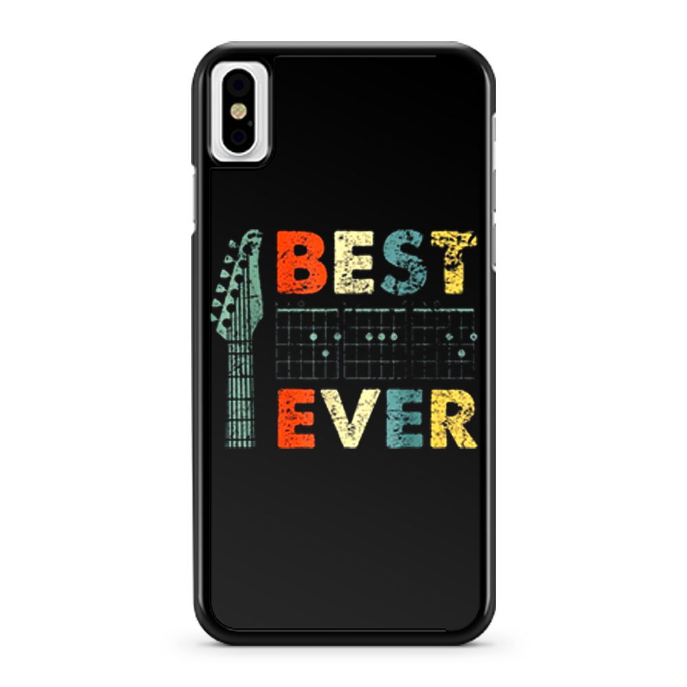 Guitar DAD Best Dad Ever Dads Who Plays Guitar iPhone X Case iPhone XS Case iPhone XR Case iPhone XS Max Case
