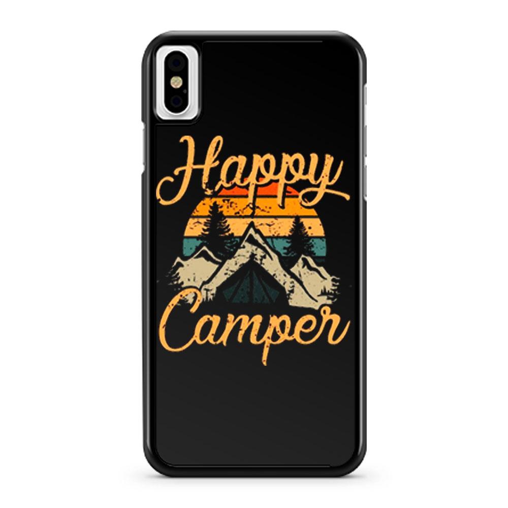Happy Camper Camping Adventure iPhone X Case iPhone XS Case iPhone XR Case iPhone XS Max Case