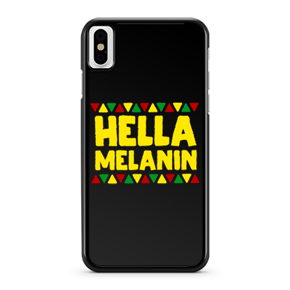Hella Melanin Black Lives Matter Pride iPhone X Case iPhone XS Case iPhone XR Case iPhone XS Max Case