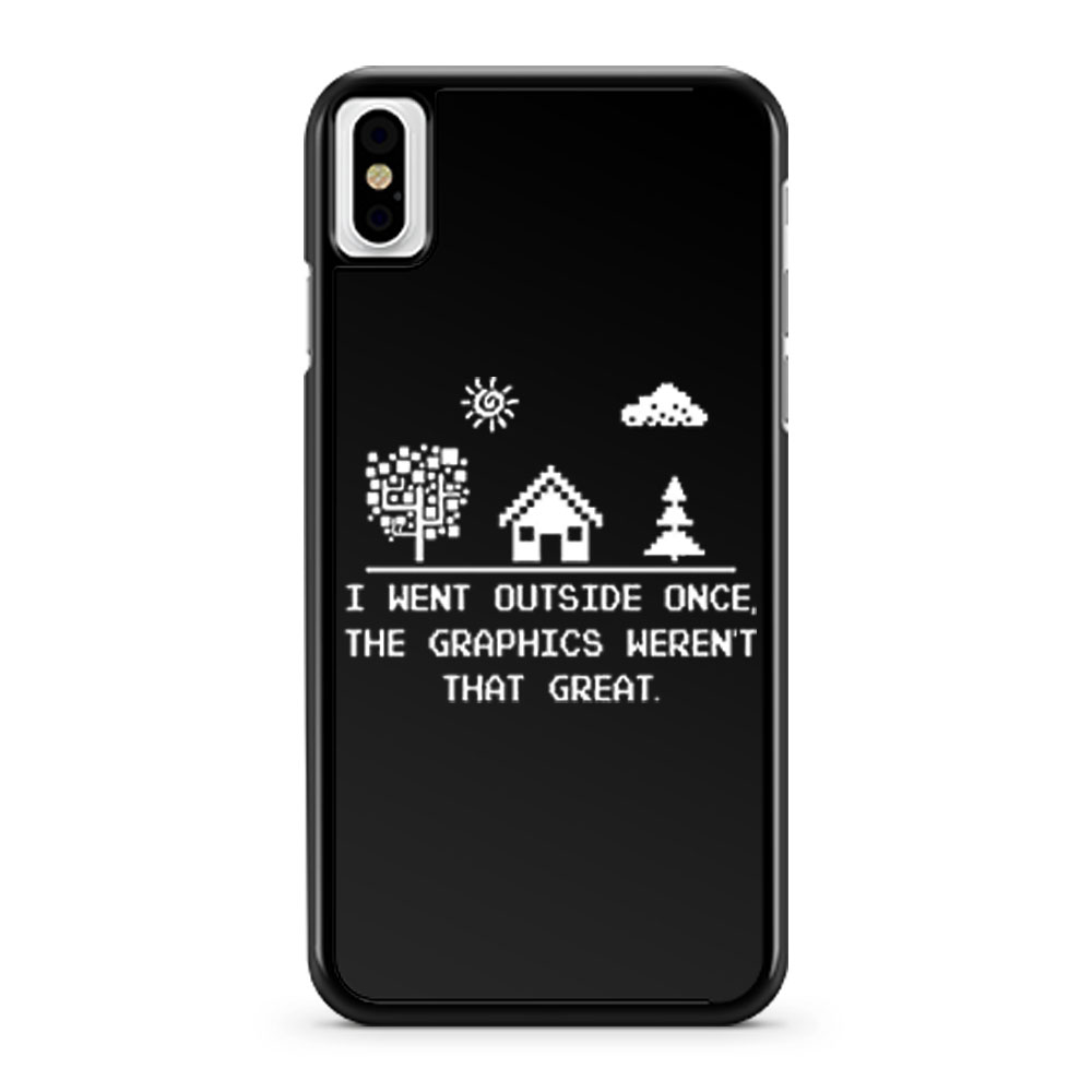 I Went Outside Once Retro Gaming iPhone X Case iPhone XS Case iPhone XR Case iPhone XS Max Case
