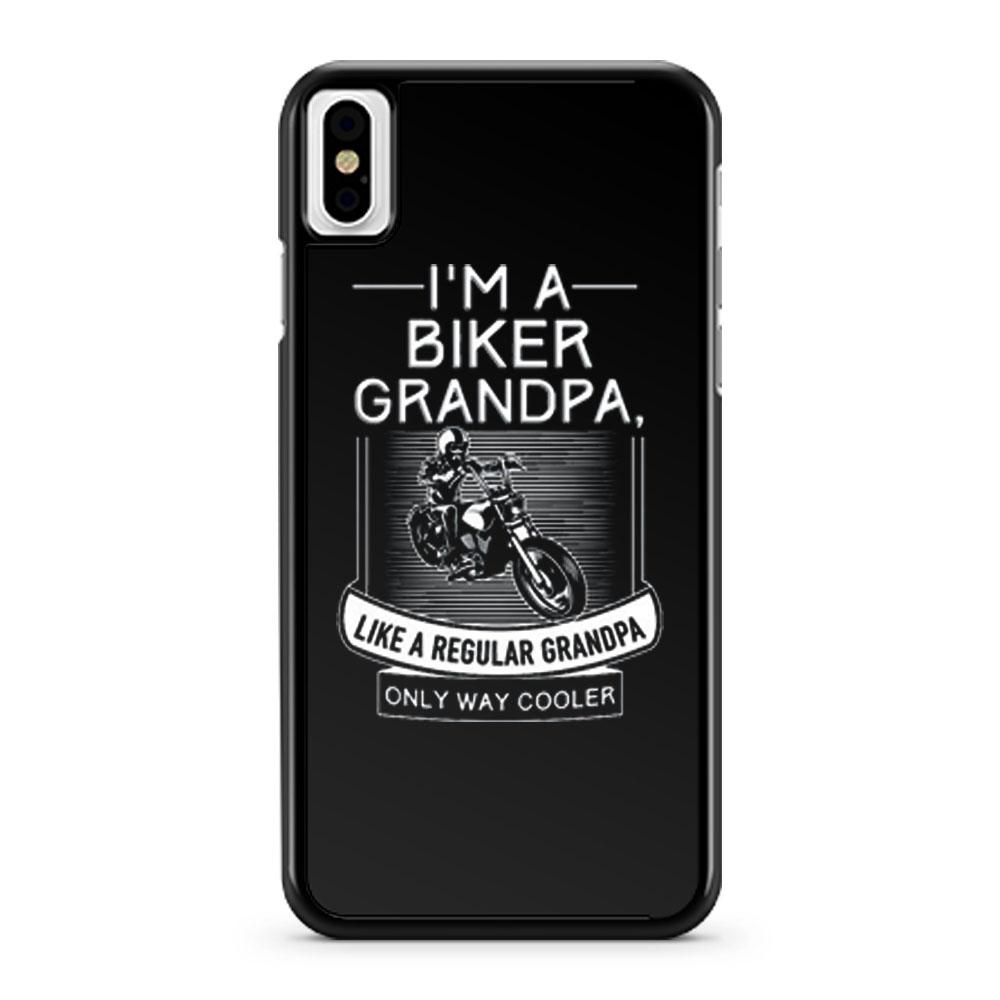 Im A Biker Grandpa iPhone X Case iPhone XS Case iPhone XR Case iPhone XS Max Case