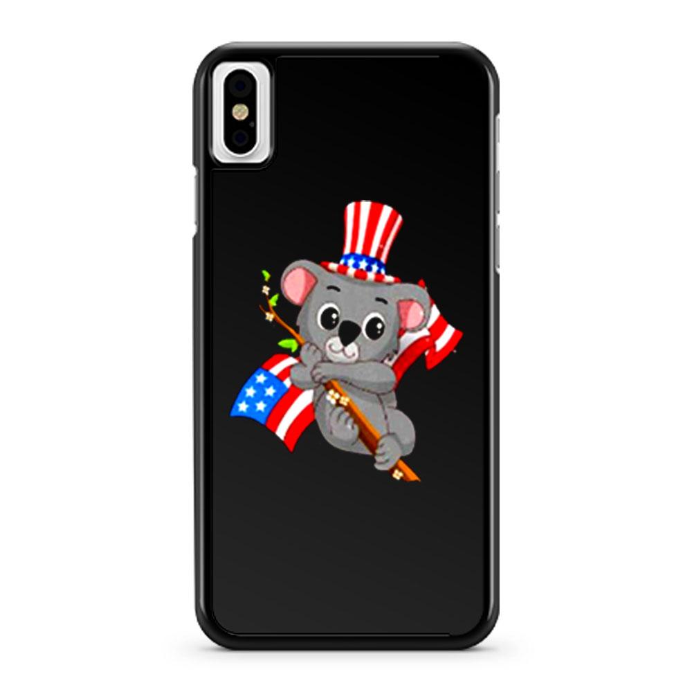 Independence Day Koala iPhone X Case iPhone XS Case iPhone XR Case iPhone XS Max Case
