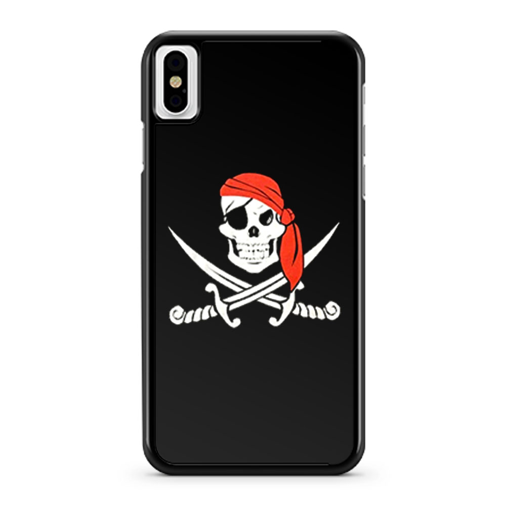 Jolly Roger Pirate Flag iPhone X Case iPhone XS Case iPhone XR Case iPhone XS Max Case