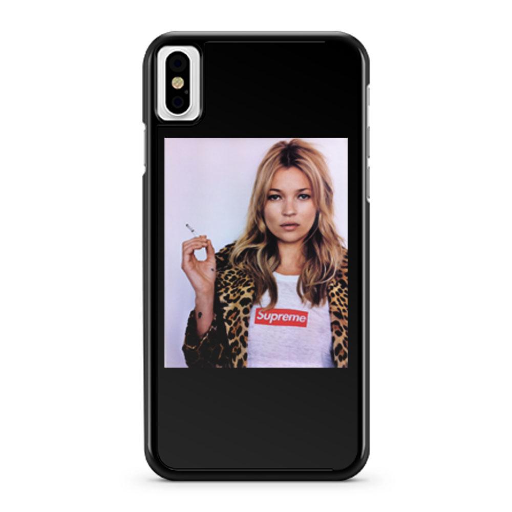 Kate Moss Model Kermit Tyson Gaga Smoking iPhone X Case iPhone XS Case iPhone XR Case iPhone XS Max Case