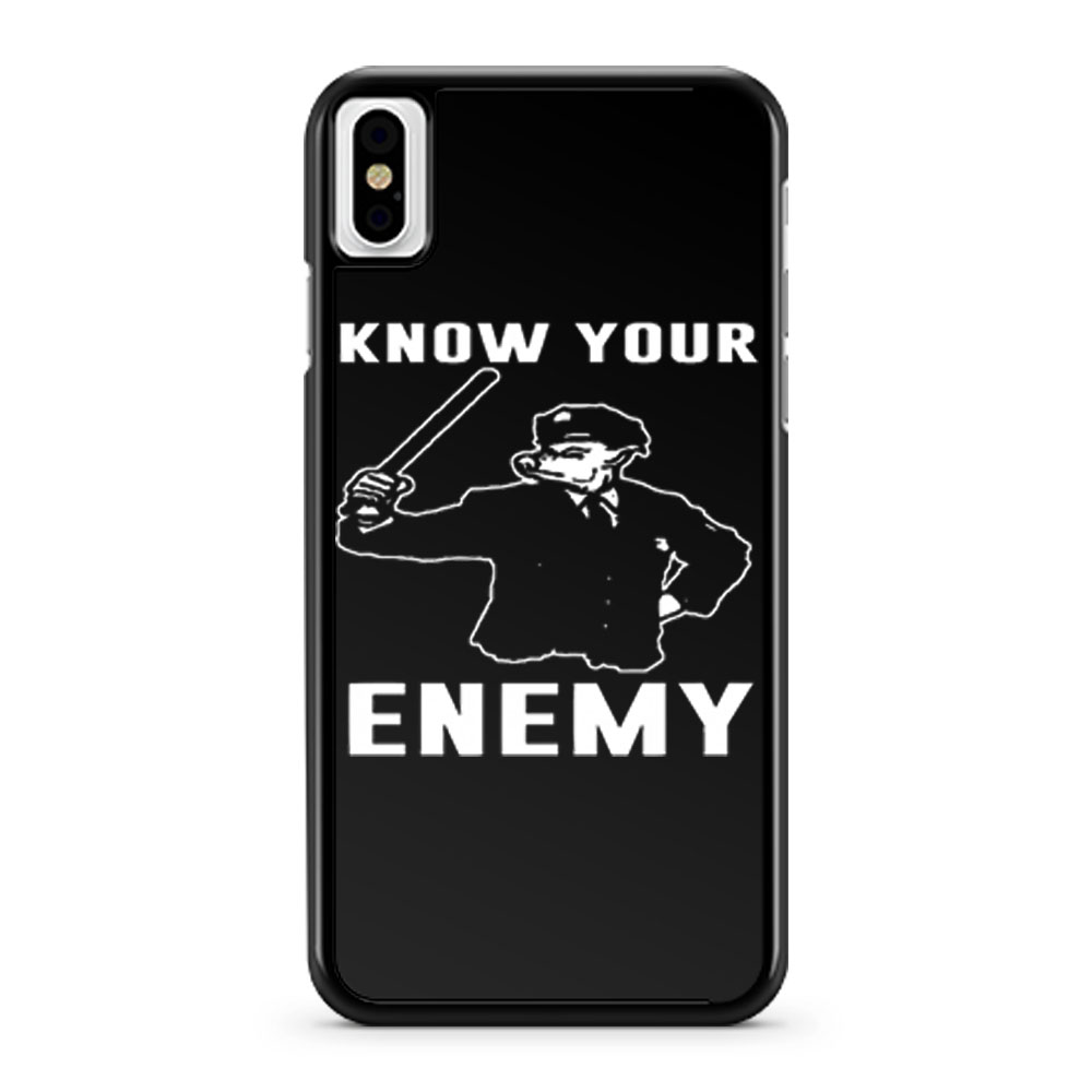 Know Your Enemy Pork Police iPhone X Case iPhone XS Case iPhone XR Case iPhone XS Max Case