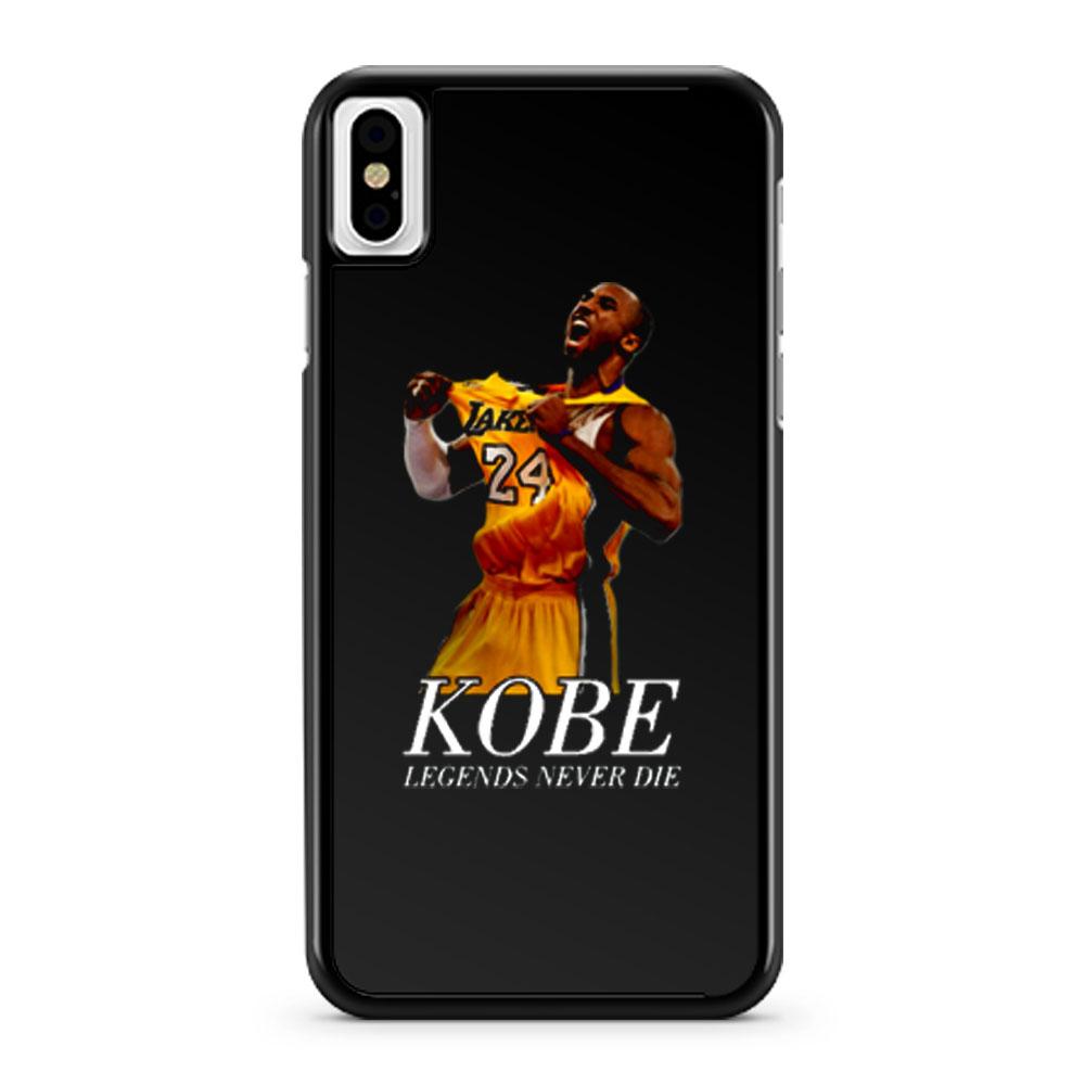 Kobe 24 Bryant Black Mamba Legend Forever iPhone X Case iPhone XS Case iPhone XR Case iPhone XS Max Case