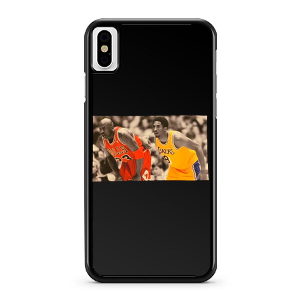 Kobe Bryant Michael Jordan memorial iPhone X Case iPhone XS Case iPhone XR Case iPhone XS Max Case