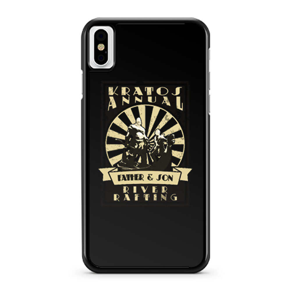 Kratos Father and Son River Rafting God Of War iPhone X Case iPhone XS Case iPhone XR Case iPhone XS Max Case