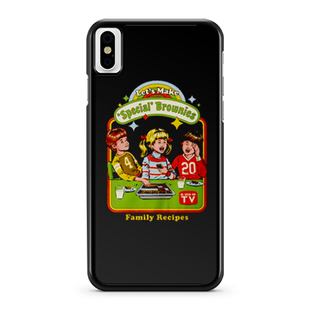Lets Make Brownies Child Humor iPhone X Case iPhone XS Case iPhone XR Case iPhone XS Max Case