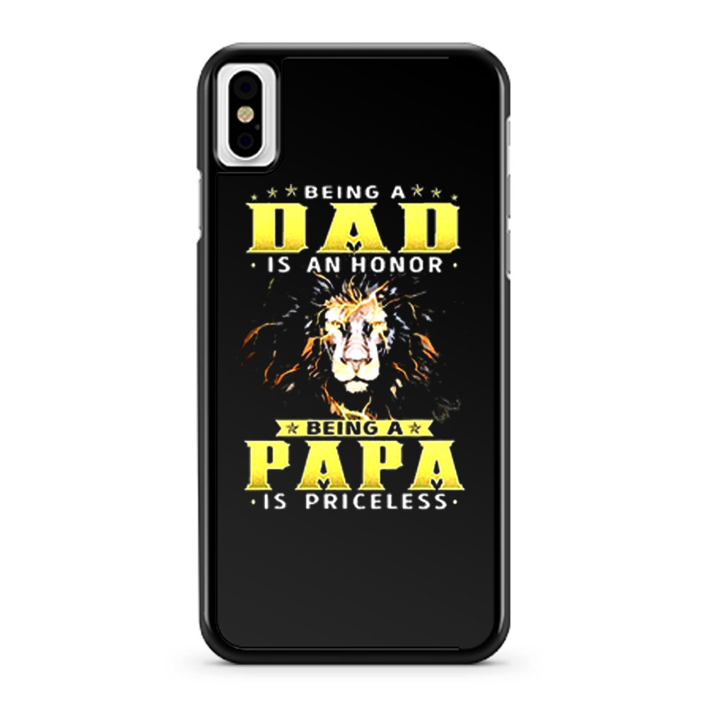 Lion Being A Dad Is An Honor Being A Papa iPhone X Case iPhone XS Case iPhone XR Case iPhone XS Max Case