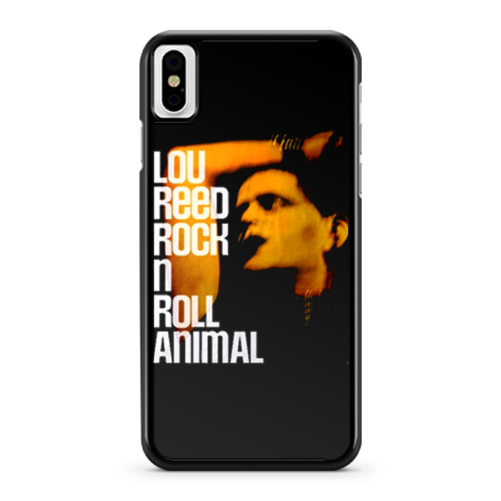 Lou Reed Rock N Roll Animal Big iPhone X Case iPhone XS Case iPhone XR Case iPhone XS Max Case