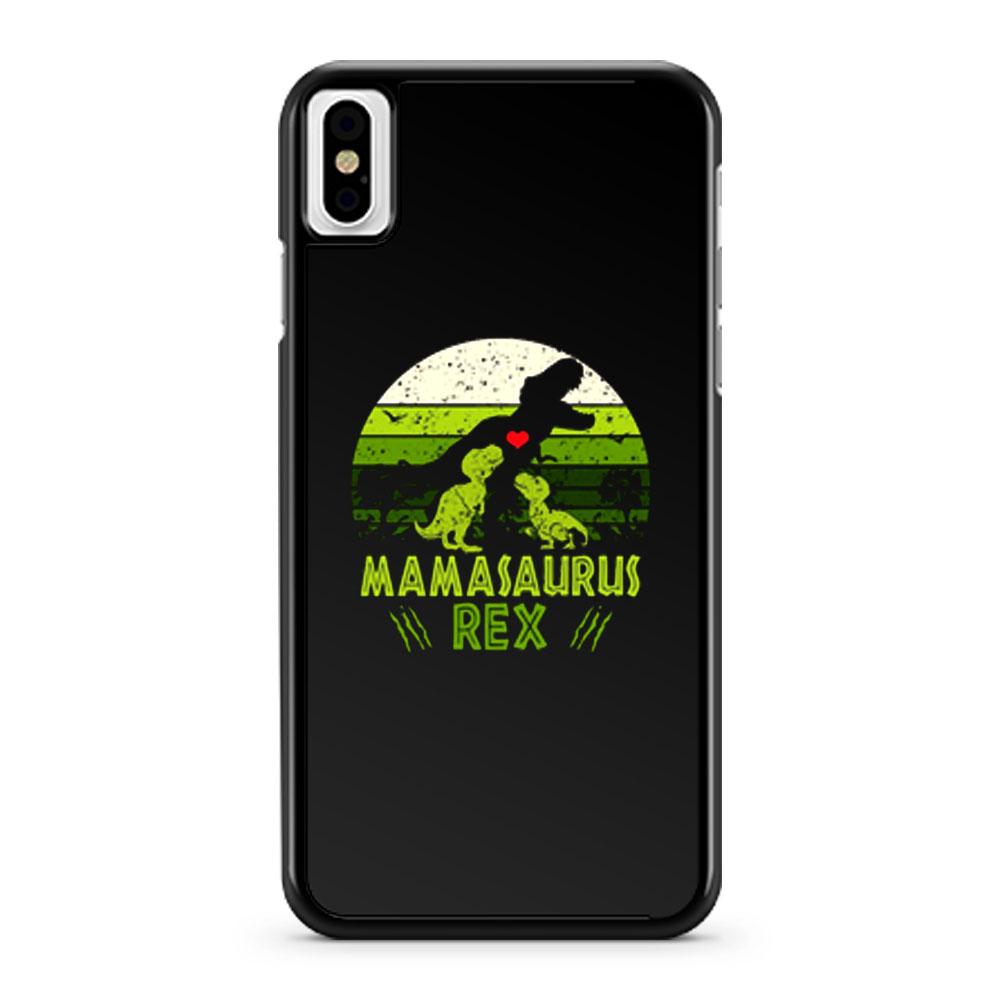 Mamasaurus Rex Jurasskicked Jurassic Park movies iPhone X Case iPhone XS Case iPhone XR Case iPhone XS Max Case