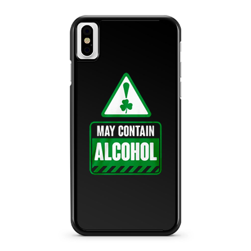 May Contain Alcohol iPhone X Case iPhone XS Case iPhone XR Case iPhone XS Max Case