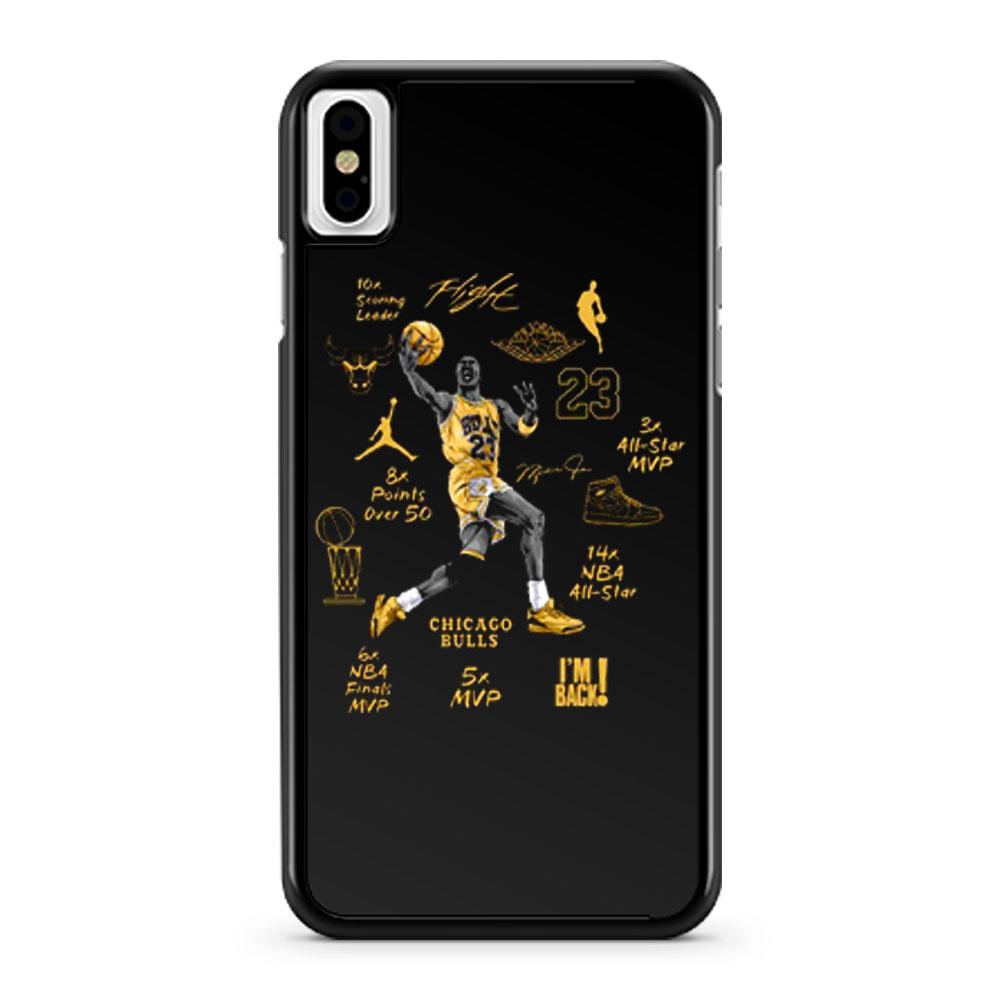 Michael Jordan Air Jordan 6 DMP Match iPhone X Case iPhone XS Case iPhone XR Case iPhone XS Max Case