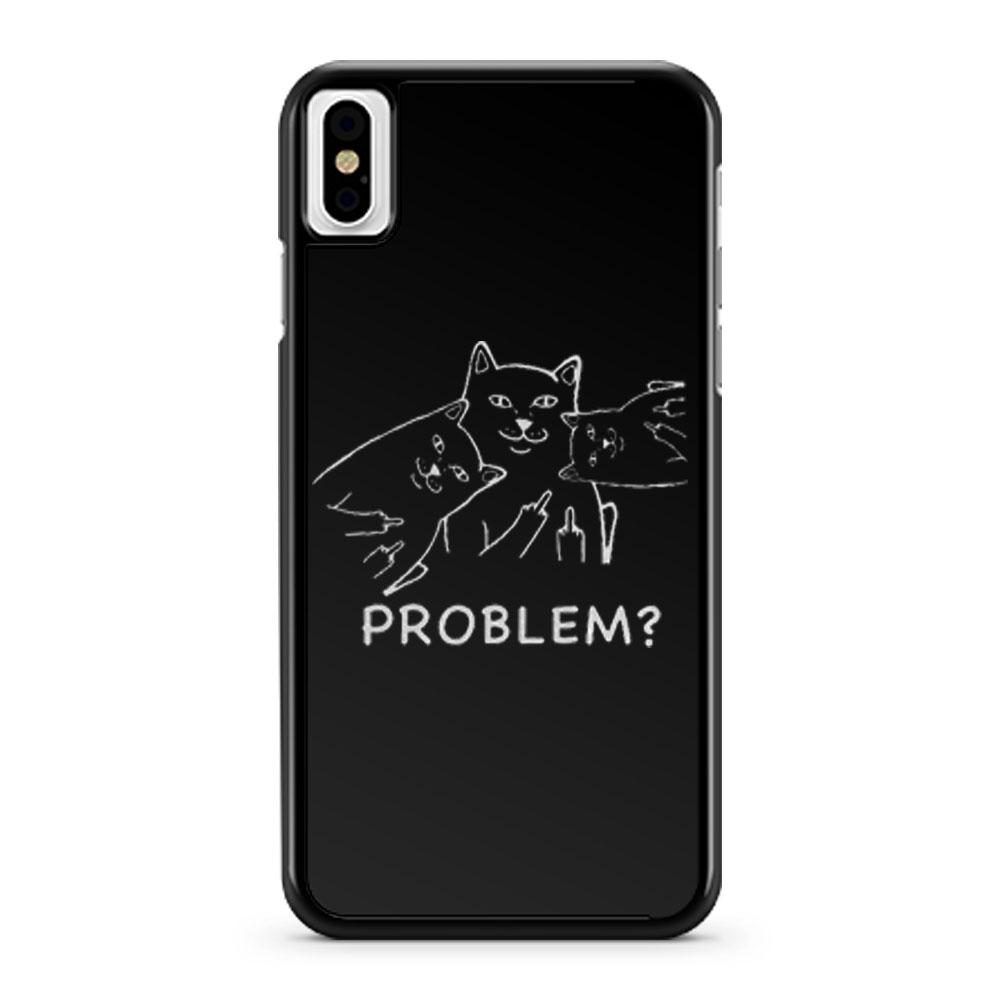 Middle finger cat iPhone X Case iPhone XS Case iPhone XR Case iPhone XS Max Case