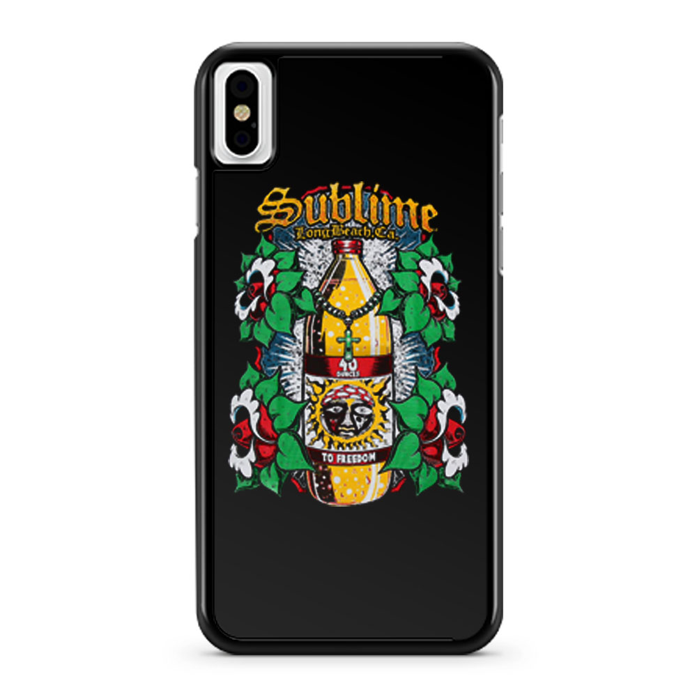 Sublime To Freedom Multi Color iPhone X Case iPhone XS Case iPhone XR Case iPhone XS Max Case