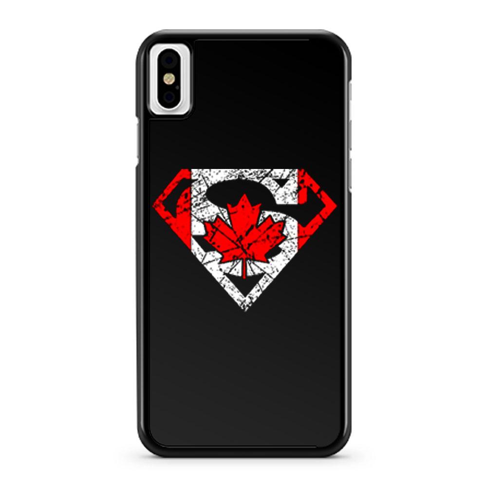Superhero Dad Canadian Flag iPhone X Case iPhone XS Case iPhone XR Case iPhone XS Max Case
