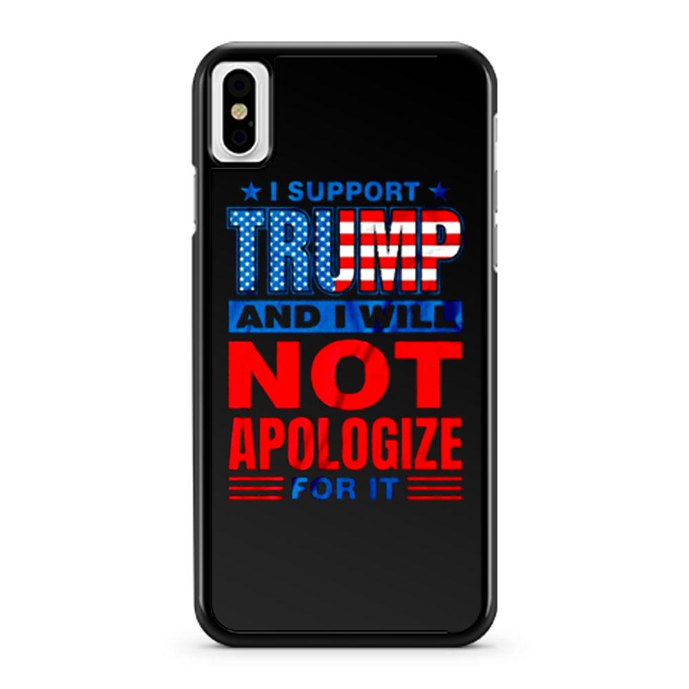 Support Trump Donald Trump 2020 iPhone X Case iPhone XS Case iPhone XR Case iPhone XS Max Case