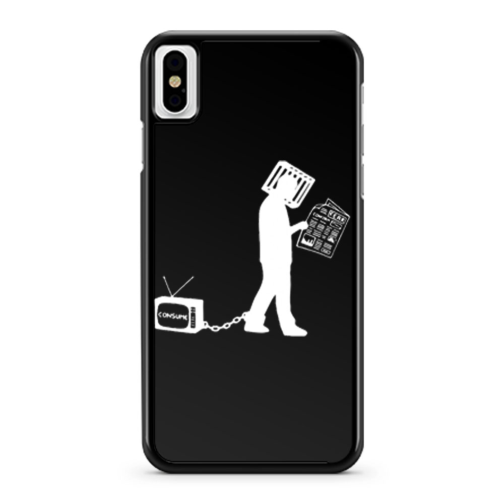 Television Make Me Consume iPhone X Case iPhone XS Case iPhone XR Case iPhone XS Max Case