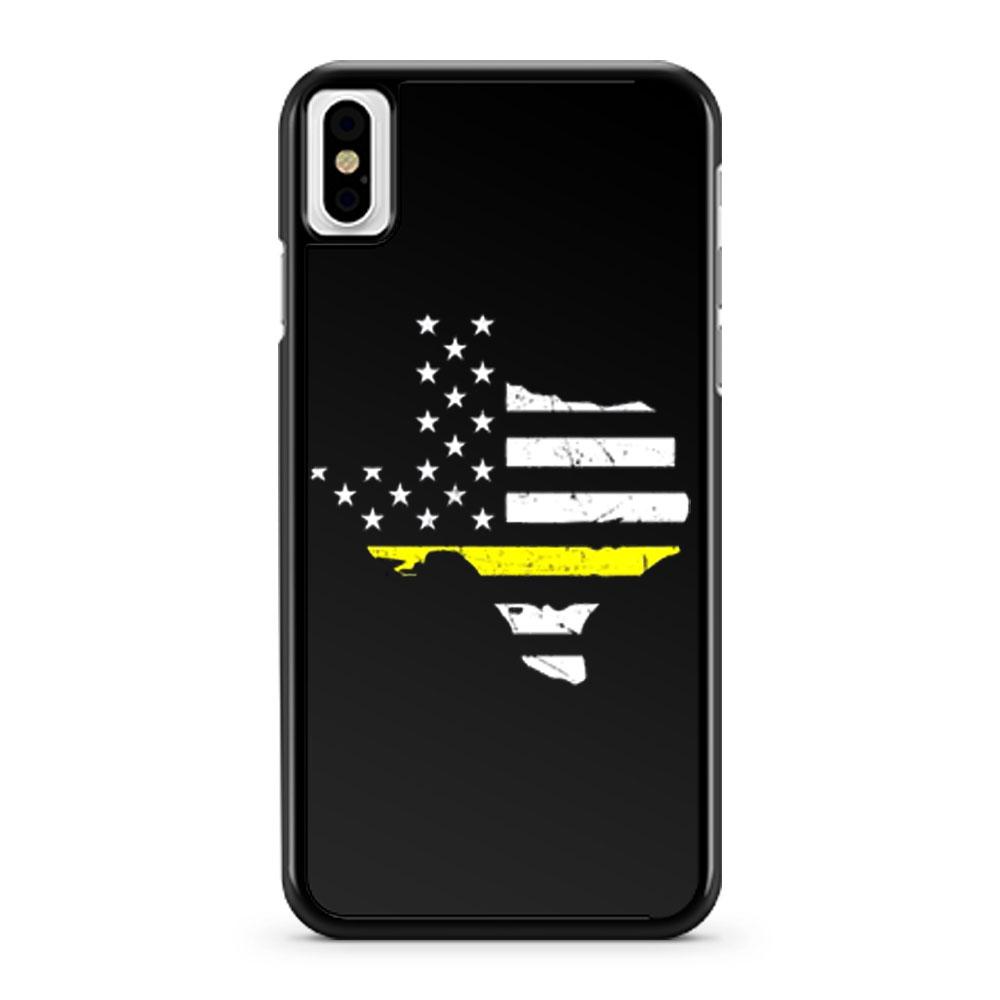 Texas 911 Dispatcher American Flag iPhone X Case iPhone XS Case iPhone XR Case iPhone XS Max Case